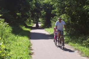 Bike Trail photo-father-daughter
